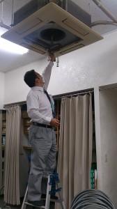 中目黒 スタジオのエアコン清掃