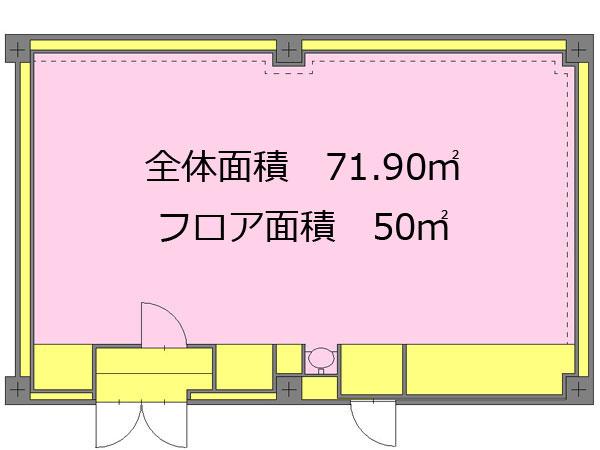 中目黒レンタルスタジオの図面 設備